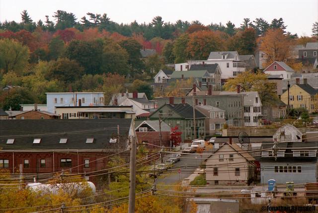 Pike Street, Biddeford, Maine from York Hill, Saco, Maine