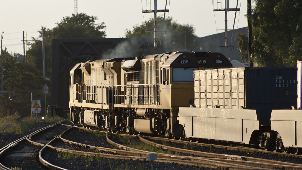 QR National freight leaving Simms Street Junction by michaelgreenhill