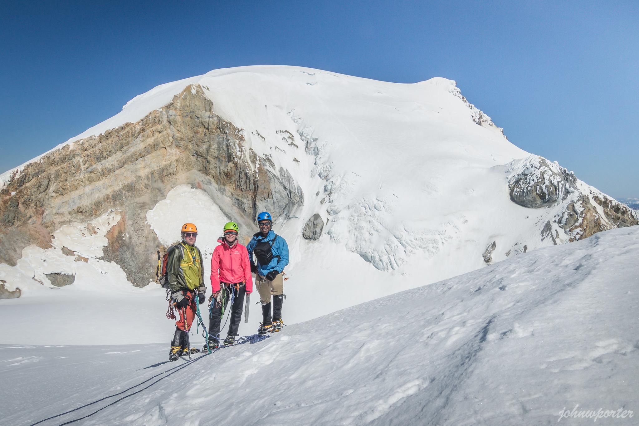 Group Kodak moment on Sherman Peak