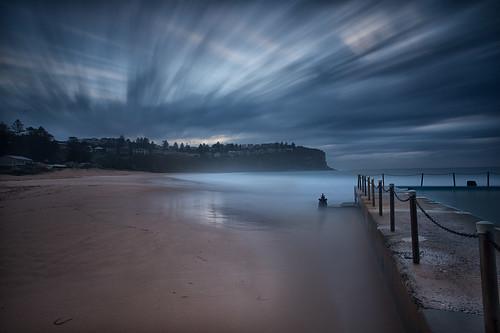 longexposure seascape clouds sunrise au australia nsw newsouthwales rockpool northernbeaches leefilters bilgolabeach