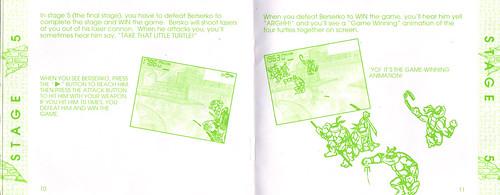 "TIGER ELECTRONICS :: ""TEENAGE MUTANT NINJA TURTLES: DIMENSION-X ASSAULT"" 'TALKING' ELECTRONIC LCD GAME ..INSTRUCTION MANUAL  pgs. 10,11 (( 1995 )) by tOkKa"