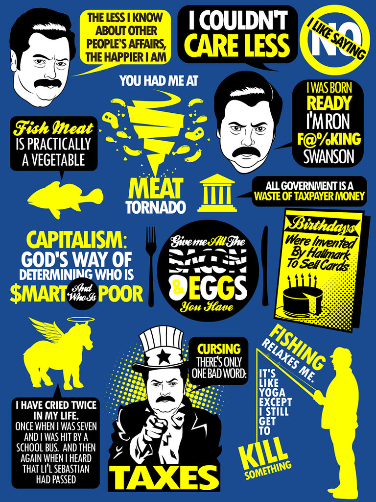 Ron Swanson Quotes | www.redbubble.com/people/tomtrager/work ...