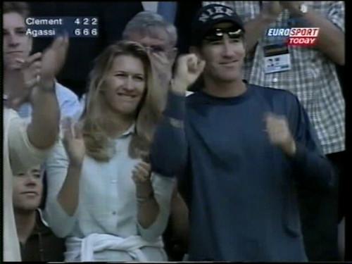 Steffi Graf and Brad Gilbert   by tennis buzz