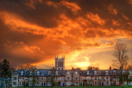 houses cambridge sunset storm church clouds stormy hdr jesusgreen