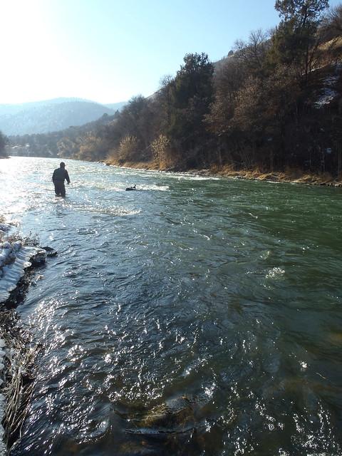 Ken in the river