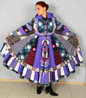 Gypsy Patchwork Sweater Dress Boho Jacket Hippie Chic Ooak Enchanting Bohemian Coat