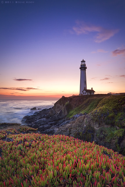 Sunset at Pigeon Point Lighthouse - California Coast