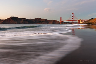 Swirls on Baker Beach | Golden Gate Bridge, San Francisco | by ctlim76