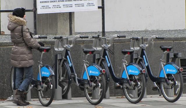 Barclays' bikes