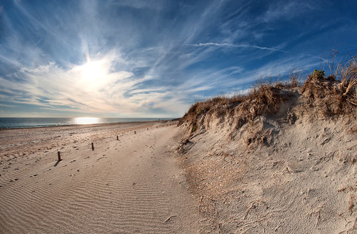 sky sun beach clouds landscape photography nc sand nikon waves photographer dunes ngc northcarolina wideangle sharp fisheye uprooted fortmacon sobx rokinon8mm zachfrailey