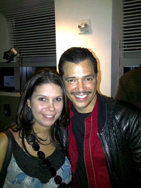 Me and el debarge at Jamie Foxx listening party