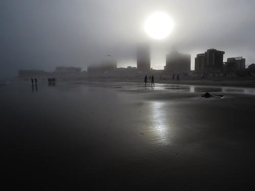 landscape atlanticcity nj newjersey fog twilight outdoor favorite richtung urban beach gorgeousgrey monochrome