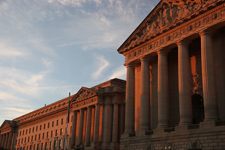 EPA Building and Mellon Auditorium - sunset - 2011-11-25 | by Tim Evanson