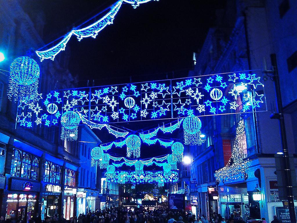 Birmingham Christmas Lights.Birmingham Christmas Lights Taken On New Street 25 11 11