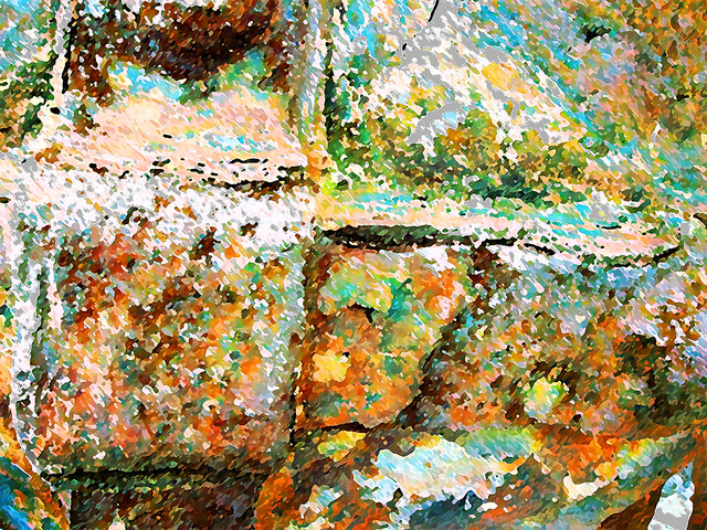 ABSTRACT RUST PAINTING