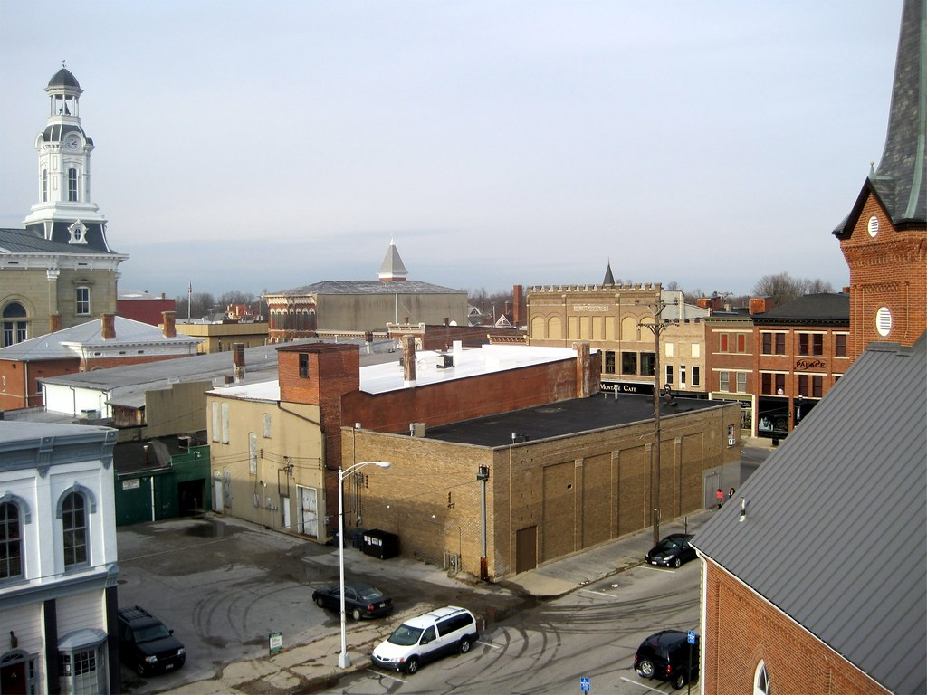 Greenville Ohio Downtown Greenville Ohio From Roof Of