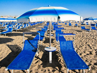 Blue Umbrellas, Rimini | by Sharon Mollerus