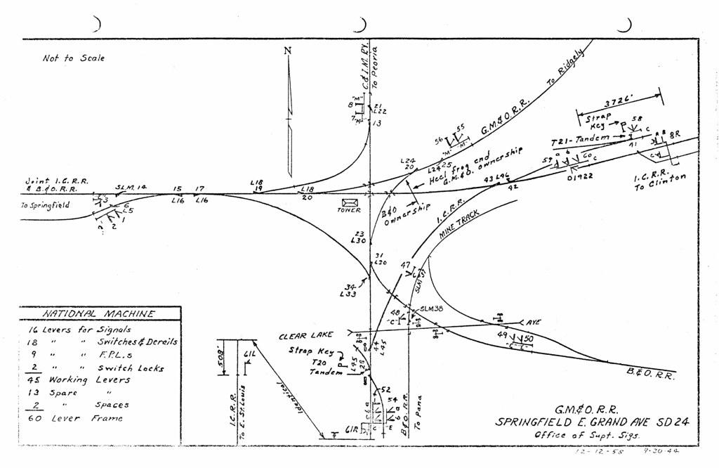 Avenue track diagram