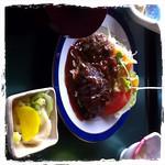ハンバーグ定食880円 at #利休_(十和田市) http://t.co/Ta5f2vz4