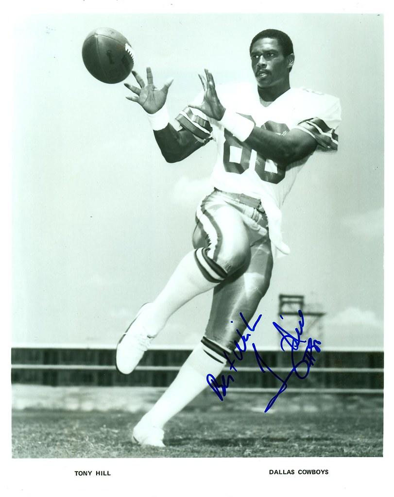 Tony Hill, Dallas Cowboys, Autographed 8x10 Photo | Joe