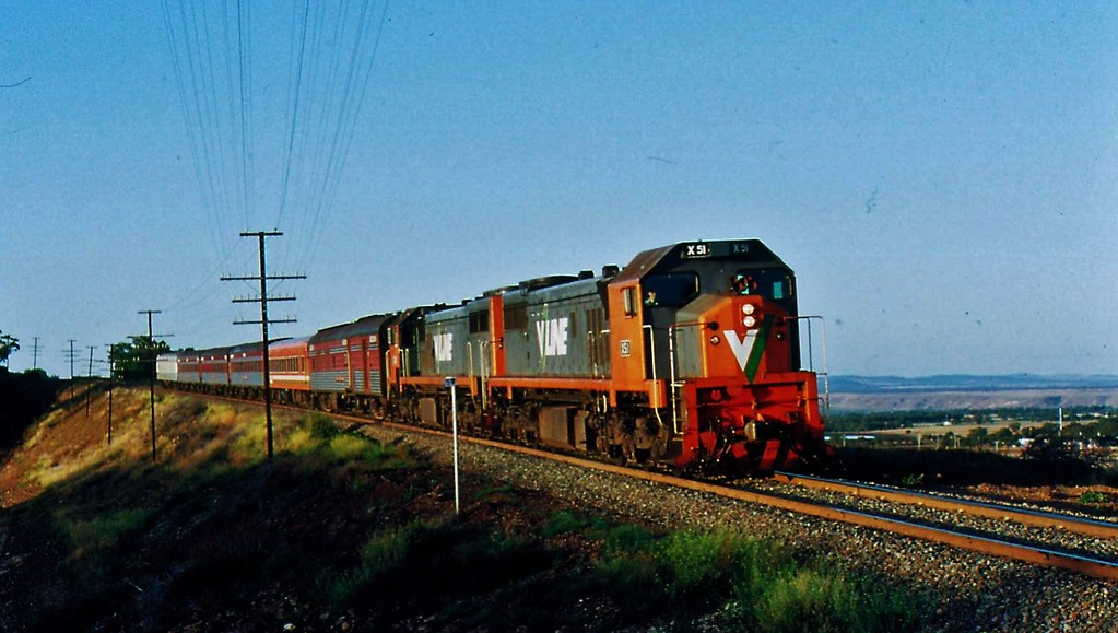 Up Dimboola Passenger Train Decenting the Ingliston Bank Rowsley by Rodney S300