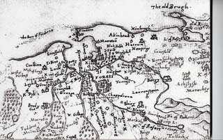 Old Map of Findhorn 1590.   by Findhorn Heritage - Moray Connections