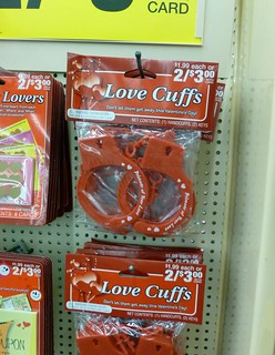 I find it oddly awesome that CVS stocks Love Cuffs for Valentine's Day even if they look uncomfortable | by benchilada