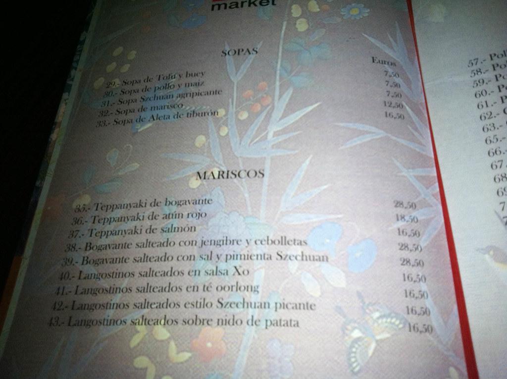 Restaurante Zen Market Madrid Carta De Platos Pablo