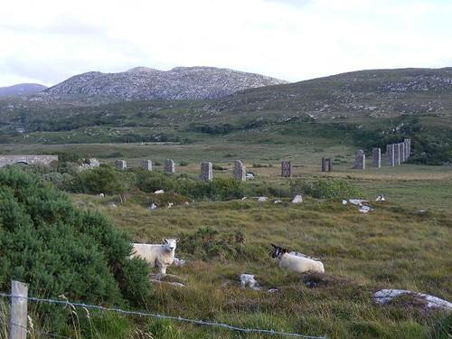 Ruins of the Owencarrow Railway Viaduct