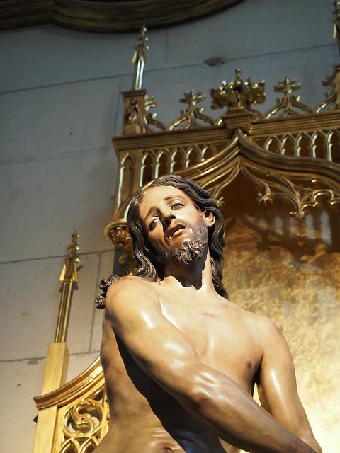 Cristo atado a la columna de Ciacomo Colombo.año 1698.Madrid.catedral de la almudena