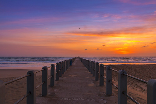 morning beach nature beautiful sunrise landscape southafrica pier skies outdoor serenity