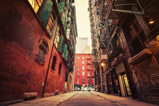 New York City Alley - Evening