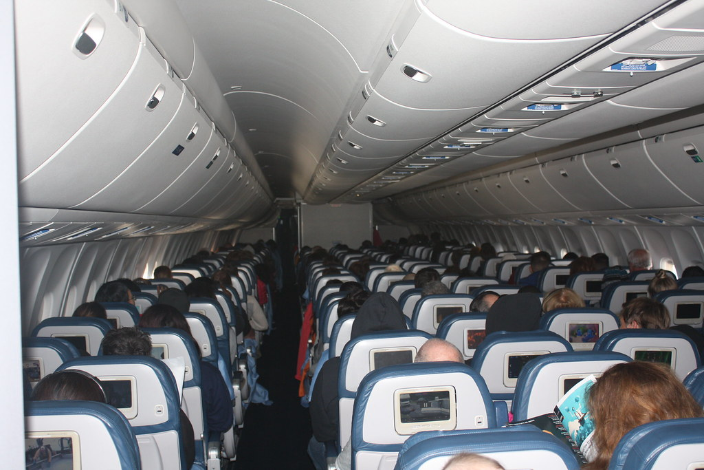 Delta Air Lines 767-300   Delta Economy cabin on a Delta Air