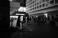Shibuya buskers b/w