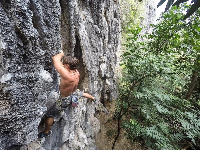 Climbing @ Green Climbers Home, Tha Khek, Laos