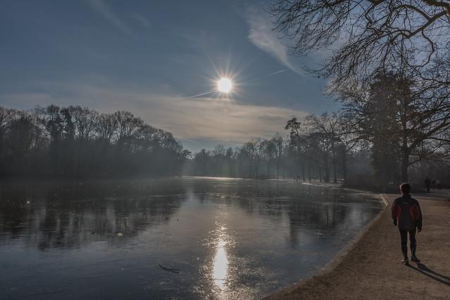 Lac des Minimes gelé Bois de Vincennes - Paris