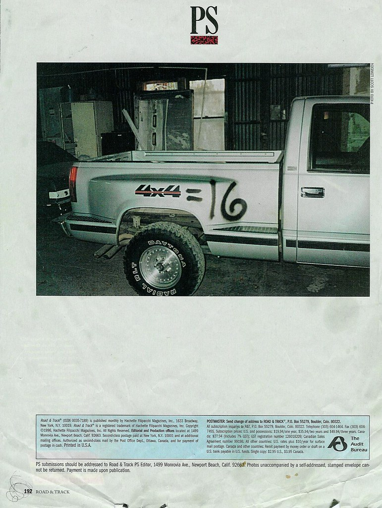 Pay Roadandtrack Com >> Scott Lowden 4x4 16 Road And Track Magazine Ps Macauspit