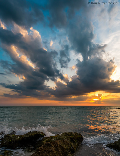 blue sky panorama orange sun seascape gulfofmexico nature water yellow clouds catchycolors skyscape landscape rocks waves cloudy sunsets panoramic g5 cloudporn goldenhour skycandy skyporn sunsetmadness sunsetsniper panoimages2