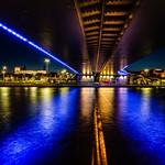 blue graffiti bridge