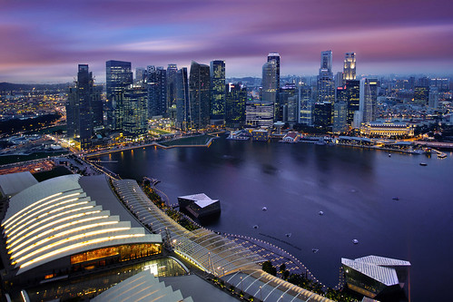 Aerial View of Singapore CBD Skyline, Marina Bay Esplanade and Raffles Place, Singapore | by :: Artie | Photography ::