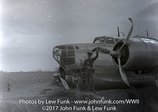 Lew Funk at B-18 Crash at Buckly Bombing Range | by John Funk from Golden Colorado