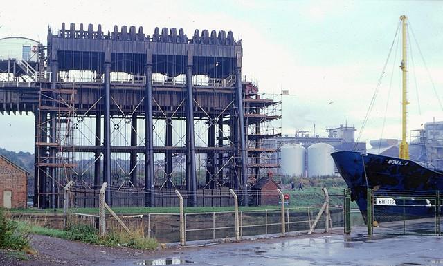 Anderton boat lift in 1981