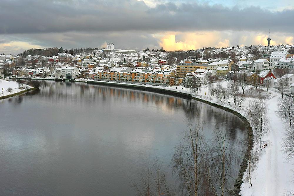 View from Elgeseter bru (bridge)