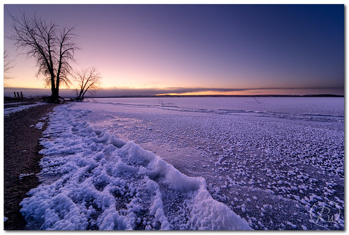 winter ice creek sunrise dawn frozen frost reservoir wyoming campground tough wy boysen