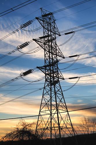 winter sunset sky newyork tower silhouette clouds evening nikon dusk powerlines electricity highvoltage d300 3518gafs