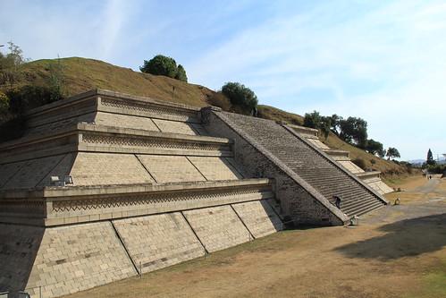 Uma das plataformas das ruínas de Cholula, Puebla