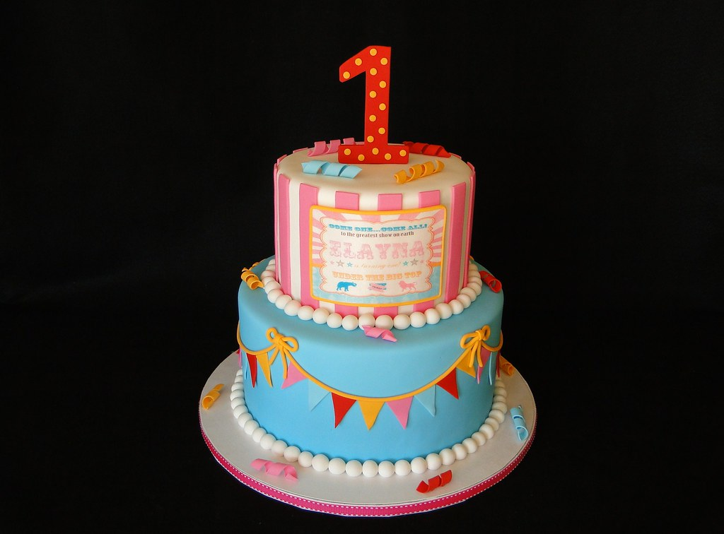 Pleasant Vintage Circus Birthday Cake Cakesbyelisa Com Facebook Flickr Personalised Birthday Cards Veneteletsinfo