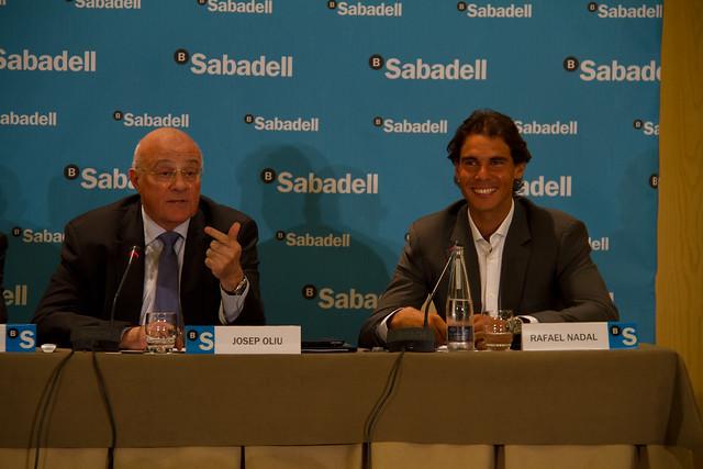 Rafa Nadal, embajador de la marca Banco Sabadell