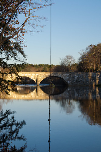 new bridge winter sunset england reflection stone river golden highway arch village state dean cement masonry newhampshire twin nh rope double swing route mortar hour edna proctor 114 henniker contoocook