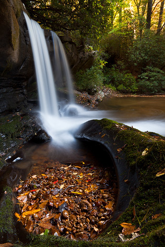 autumn usa fall nature water georgia waterfall outdoor sunny clarkesville habershamcounty johncothron rapercreekfalls cothronphotography